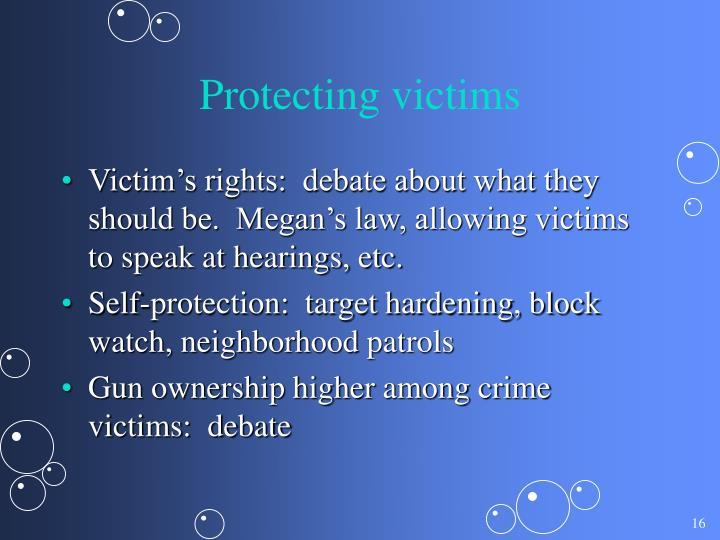 Protecting victims