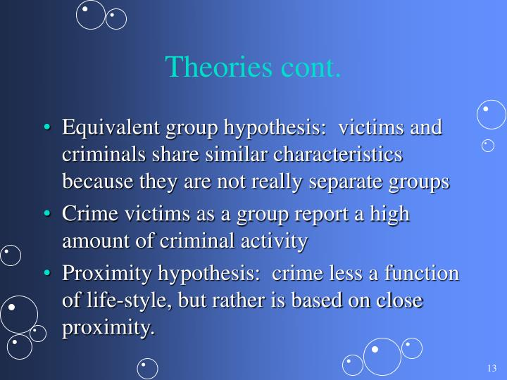 Theories cont.