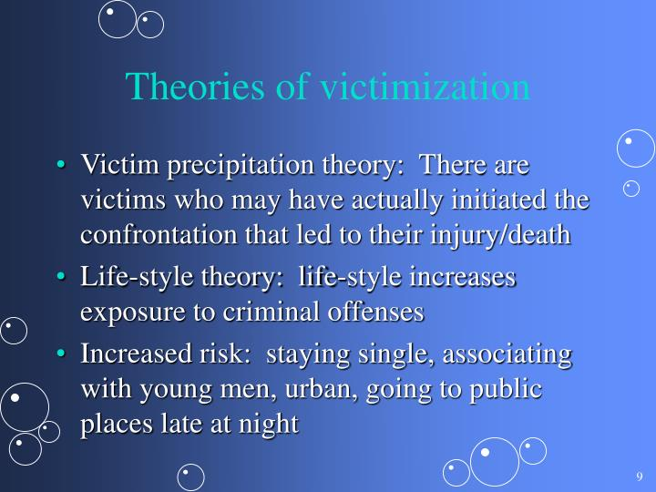 Theories of victimization