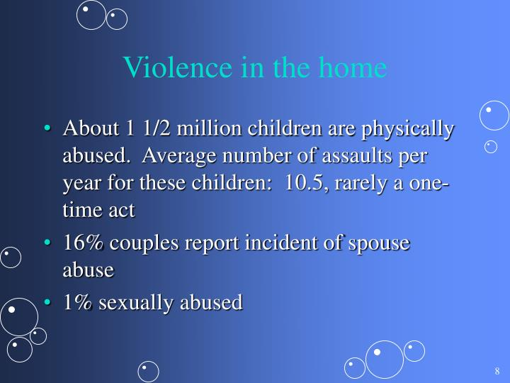 Violence in the home