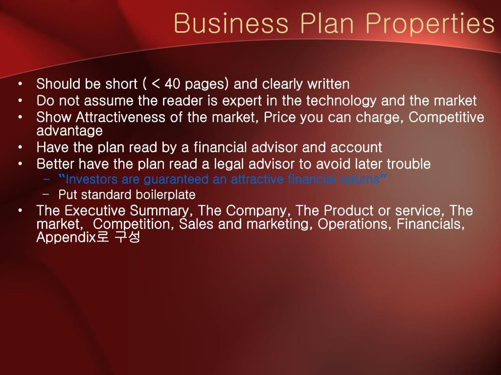 Business Plan Properties