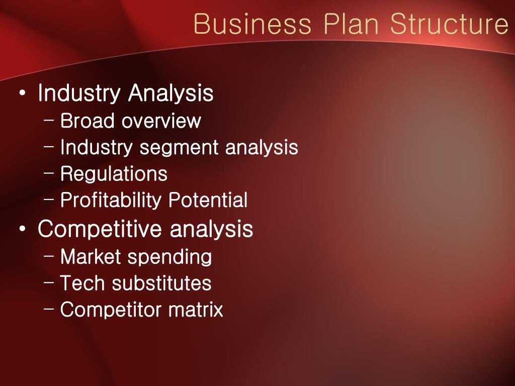Business Plan Structure