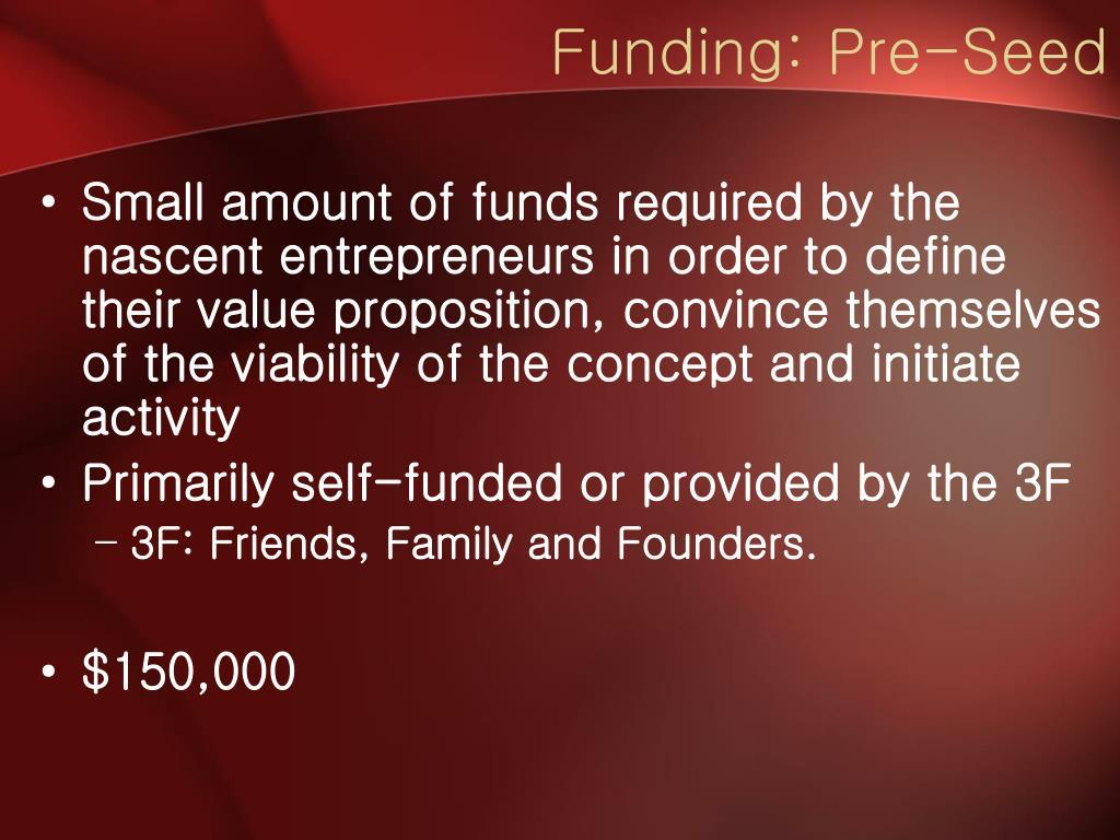 Funding: Pre-Seed