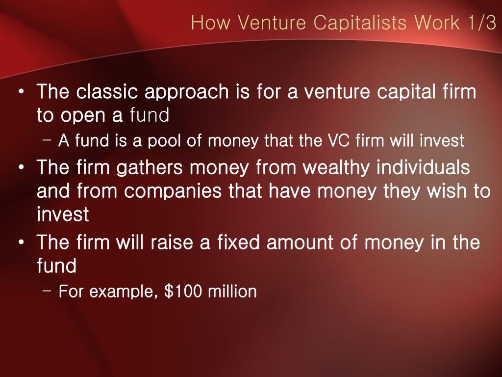 How Venture Capitalists Work 1/3