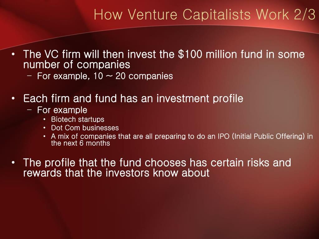 How Venture Capitalists Work 2/3