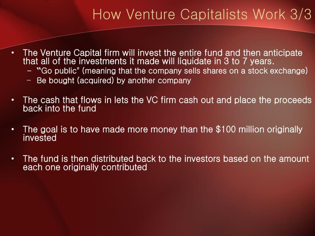 How Venture Capitalists Work 3/3