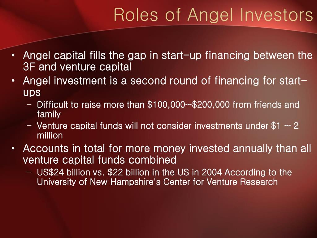 Roles of Angel Investors