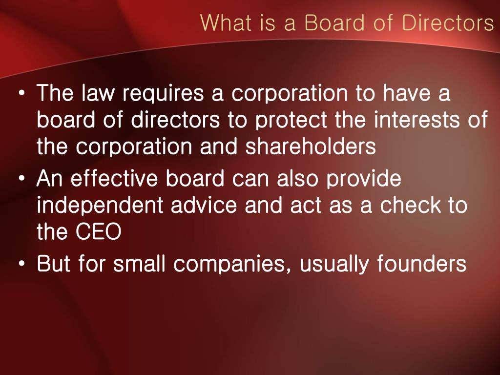What is a Board of Directors