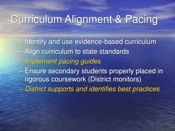 Curriculum Alignment & Pacing