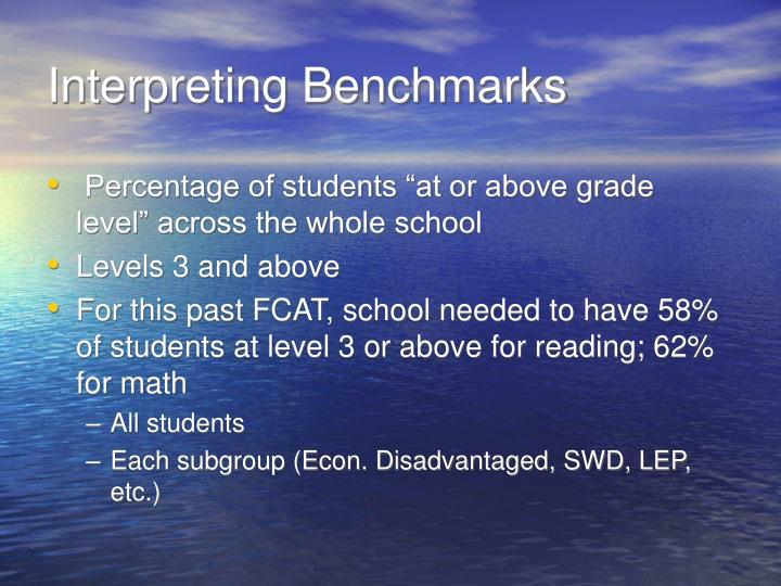 Interpreting Benchmarks
