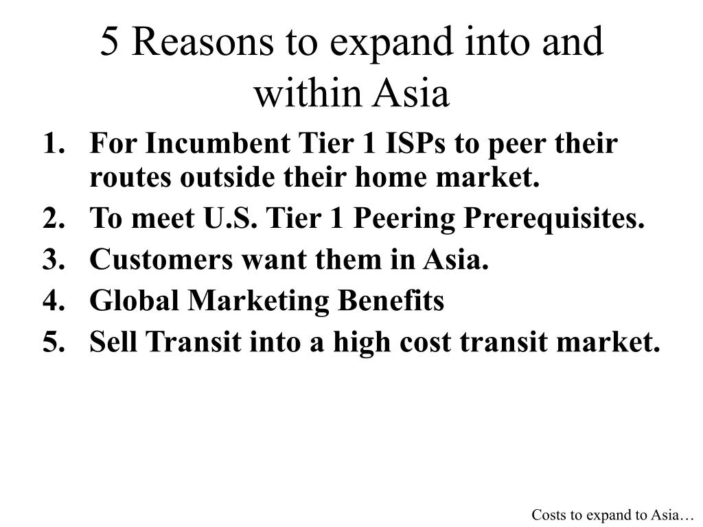 5 Reasons to expand into and within Asia