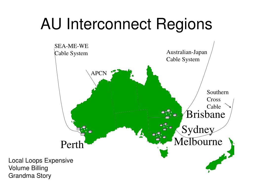 AU Interconnect Regions