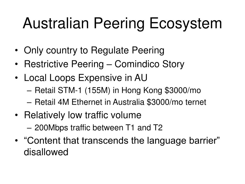 Australian Peering Ecosystem