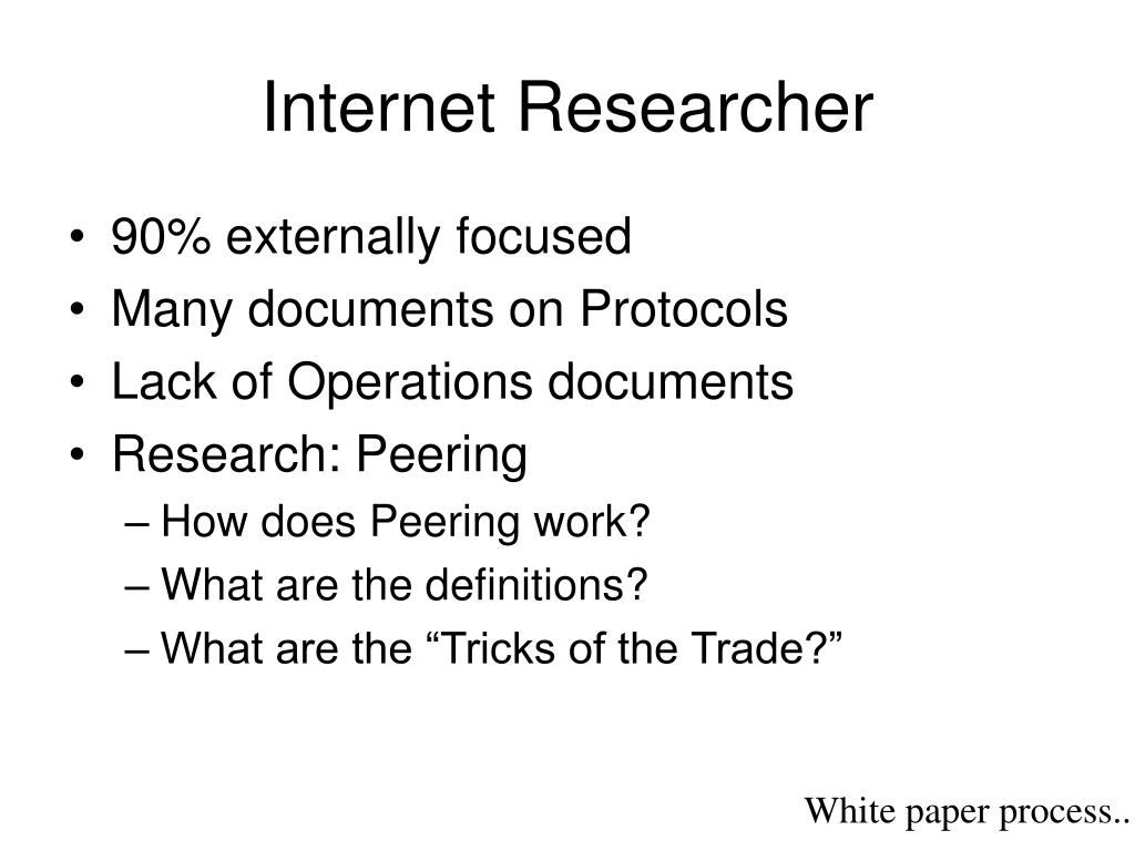 Internet Researcher