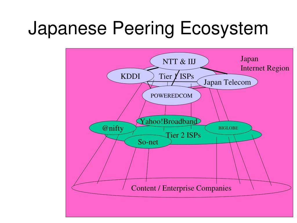 Japanese Peering Ecosystem