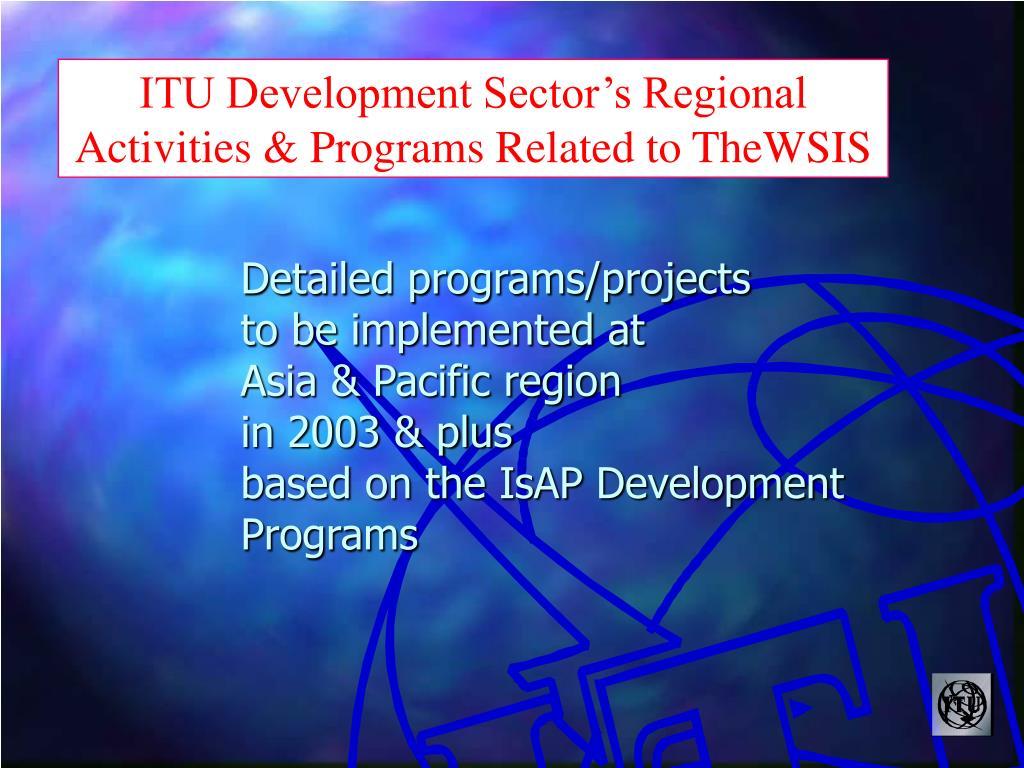 ITU Development Sector's Regional