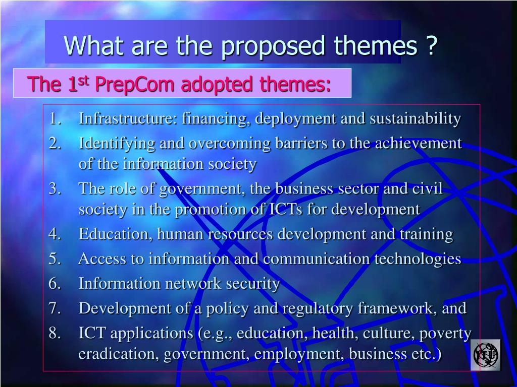 What are the proposed themes ?
