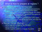 what how to prepare at regions