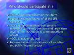 who should participate in