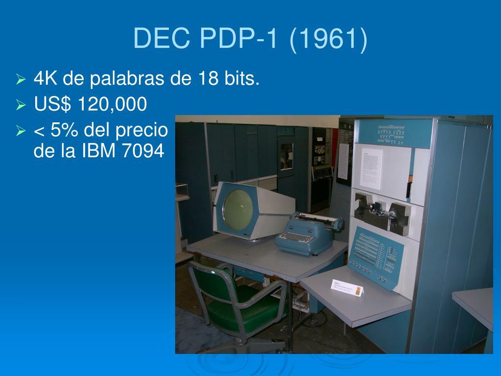 DEC PDP-1 (1961)