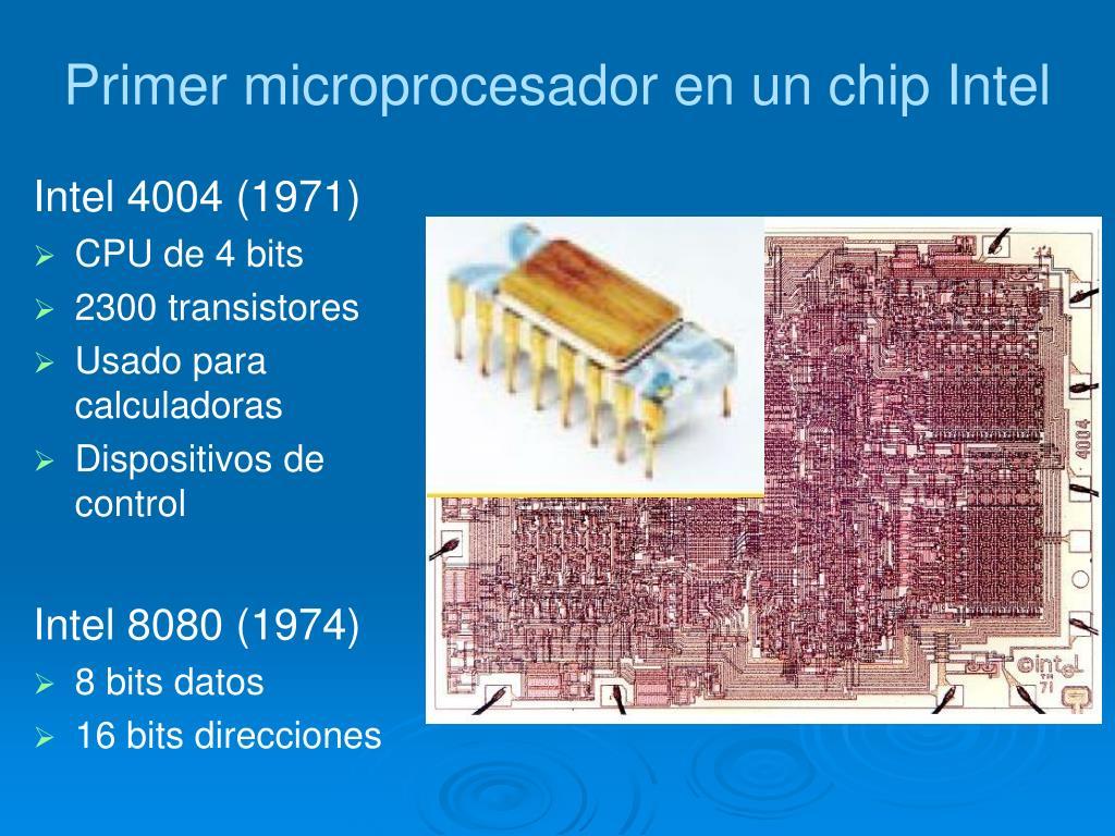 Primer microprocesador en un chip Intel