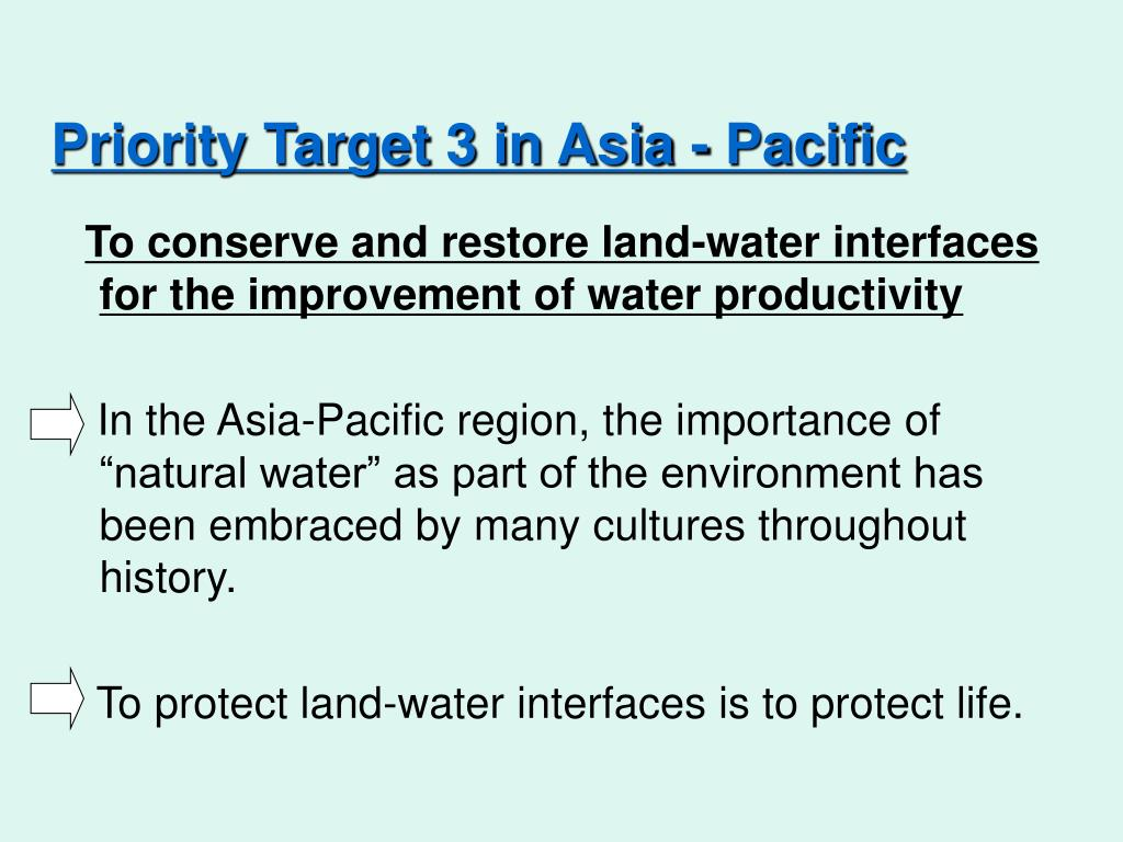 Priority Target 3 in Asia - Pacific