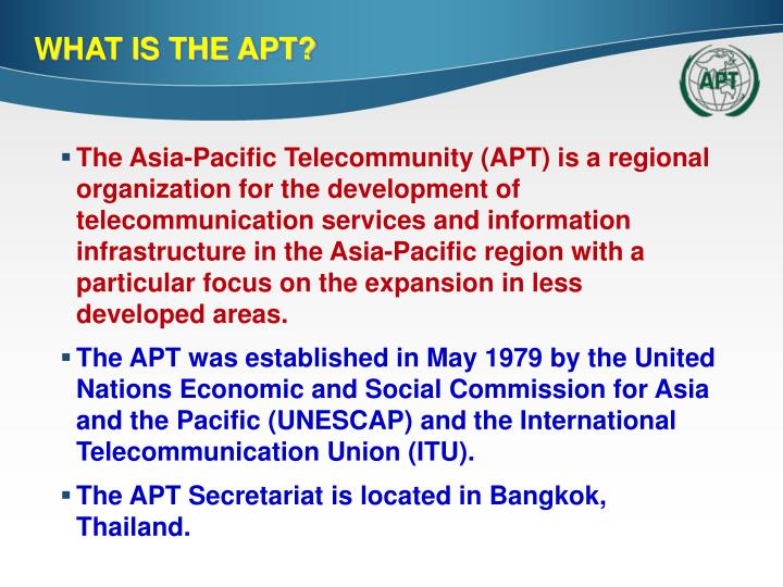 What is the apt