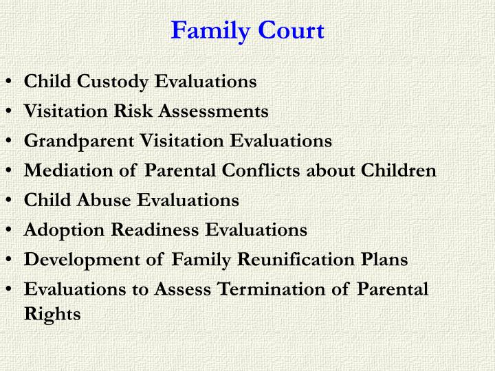 child custody evaluations essay Child custody evaluations (whether an interview or an observation) can be stressful however, if you educate yourself on what to expect and follow these seven tips, your child custody evaluation should be less anxiety laden.