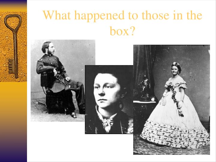 What happened to those in the box?