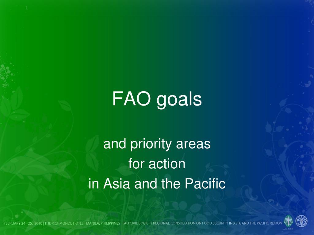 FAO goals