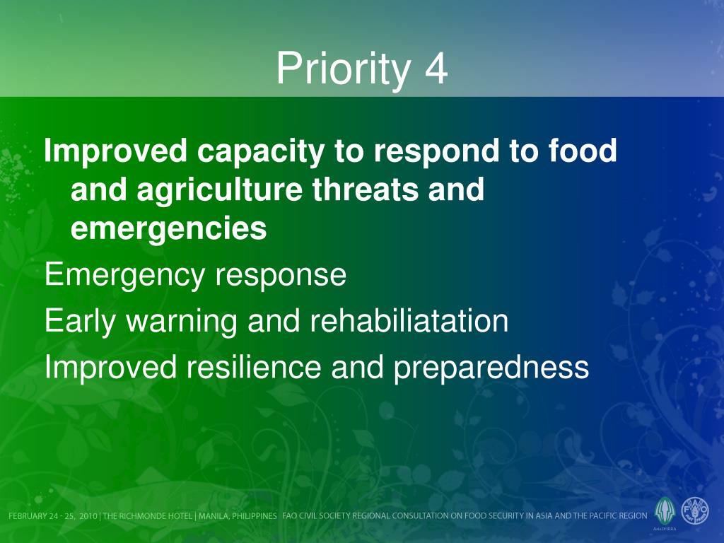 Priority 4