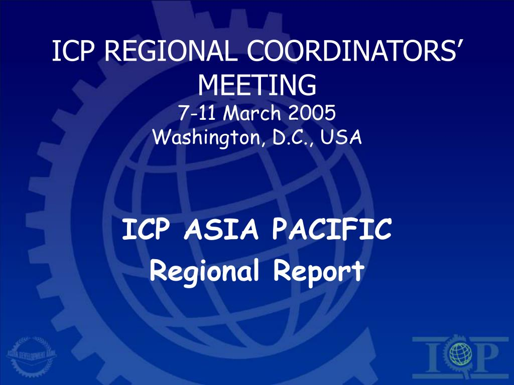 ICP REGIONAL COORDINATORS' MEETING