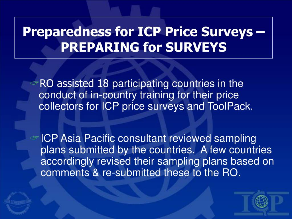 Preparedness for ICP Price Surveys – PREPARING for SURVEYS