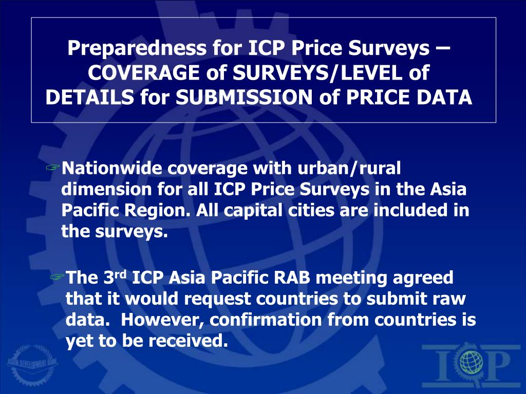 Preparedness for ICP Price Surveys