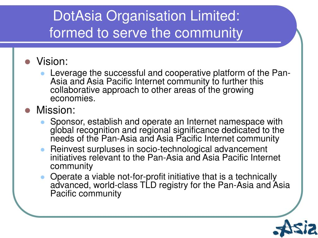 DotAsia Organisation Limited: