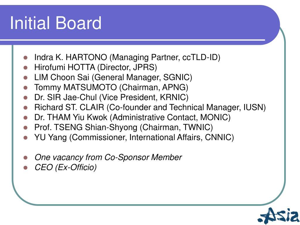 Initial Board