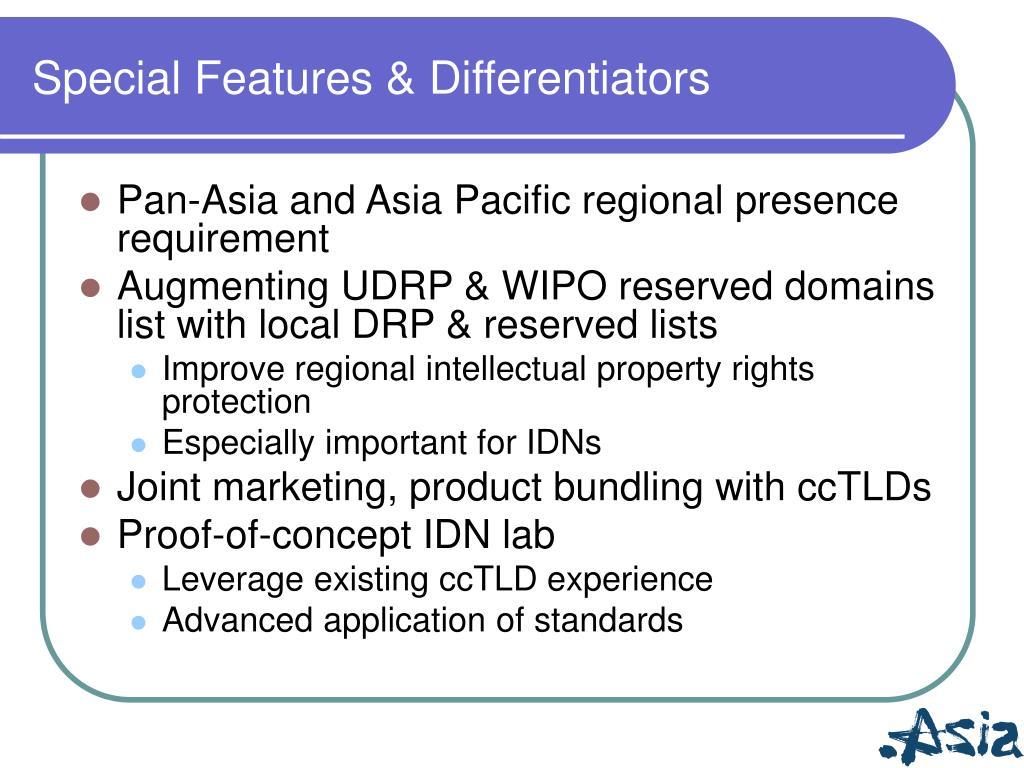 Special Features & Differentiators