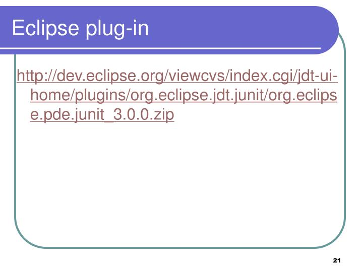 Eclipse plug-in