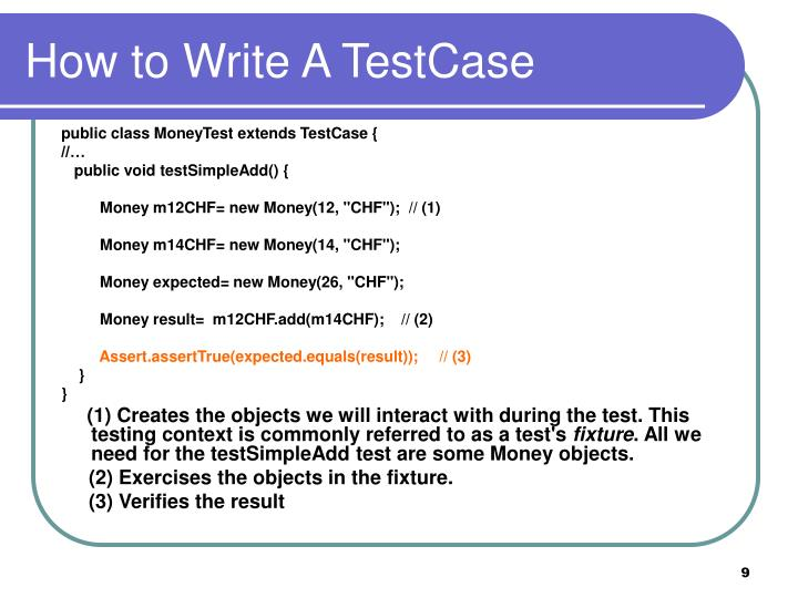 How to Write A TestCase