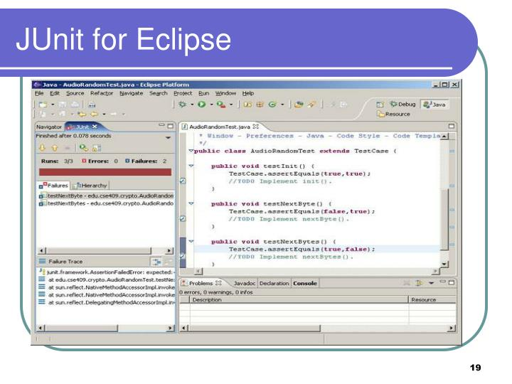 JUnit for Eclipse