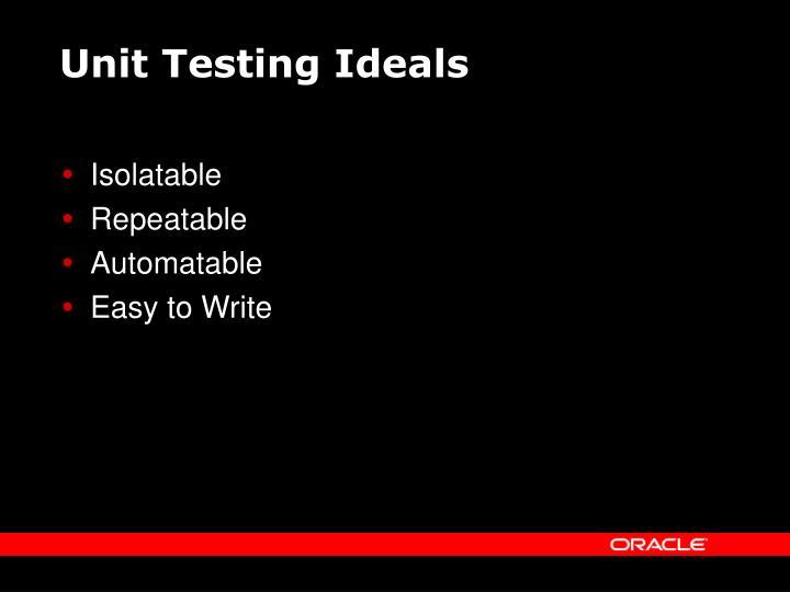 Unit Testing Ideals