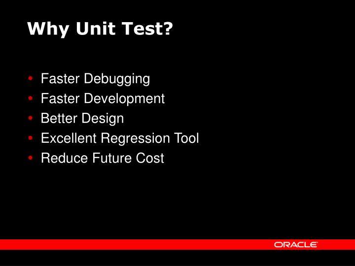 Why Unit Test?