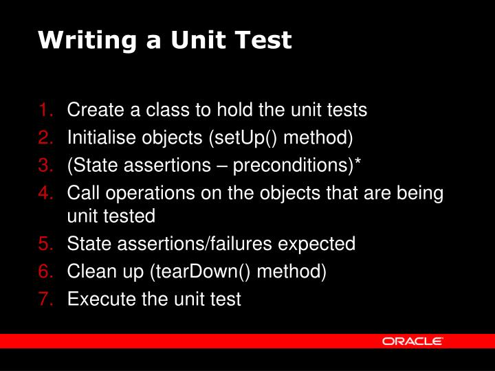 Writing a Unit Test