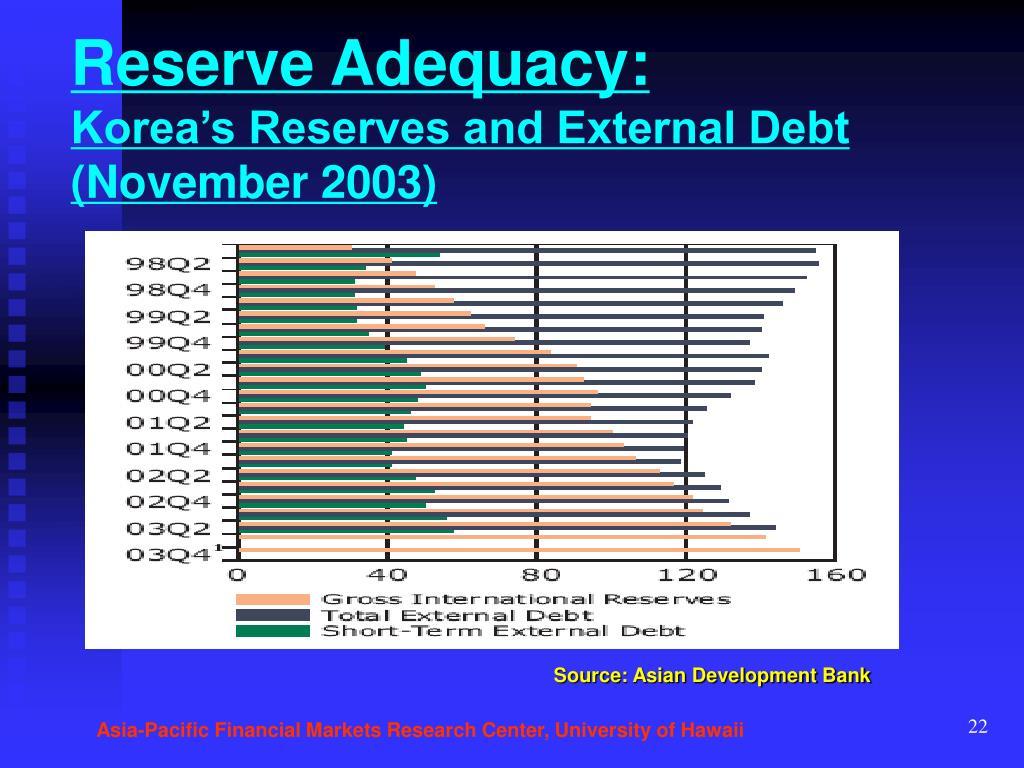 Reserve Adequacy: