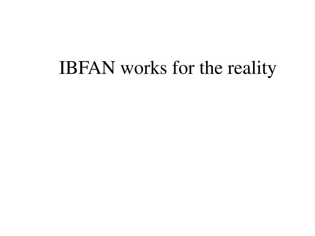 IBFAN works for the reality