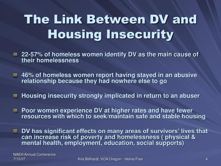 The Link Between DV and Housing Insecurity