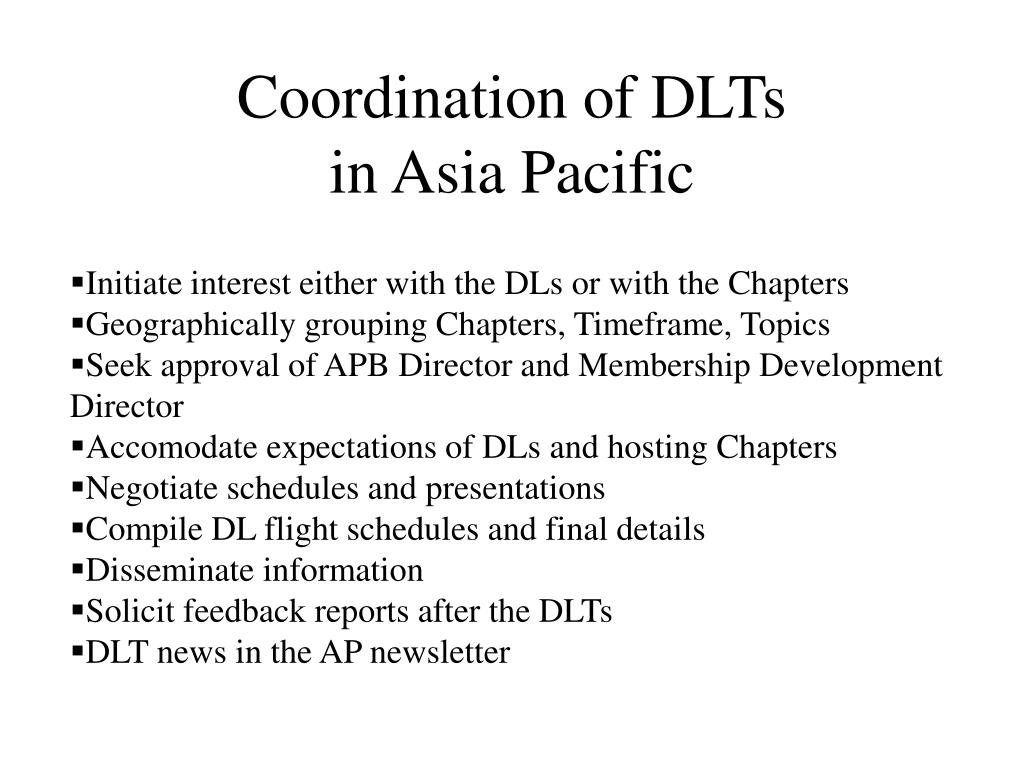 Coordination of DLTs