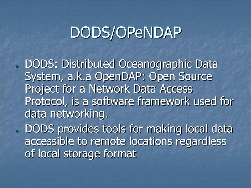 DODS/OPeNDAP