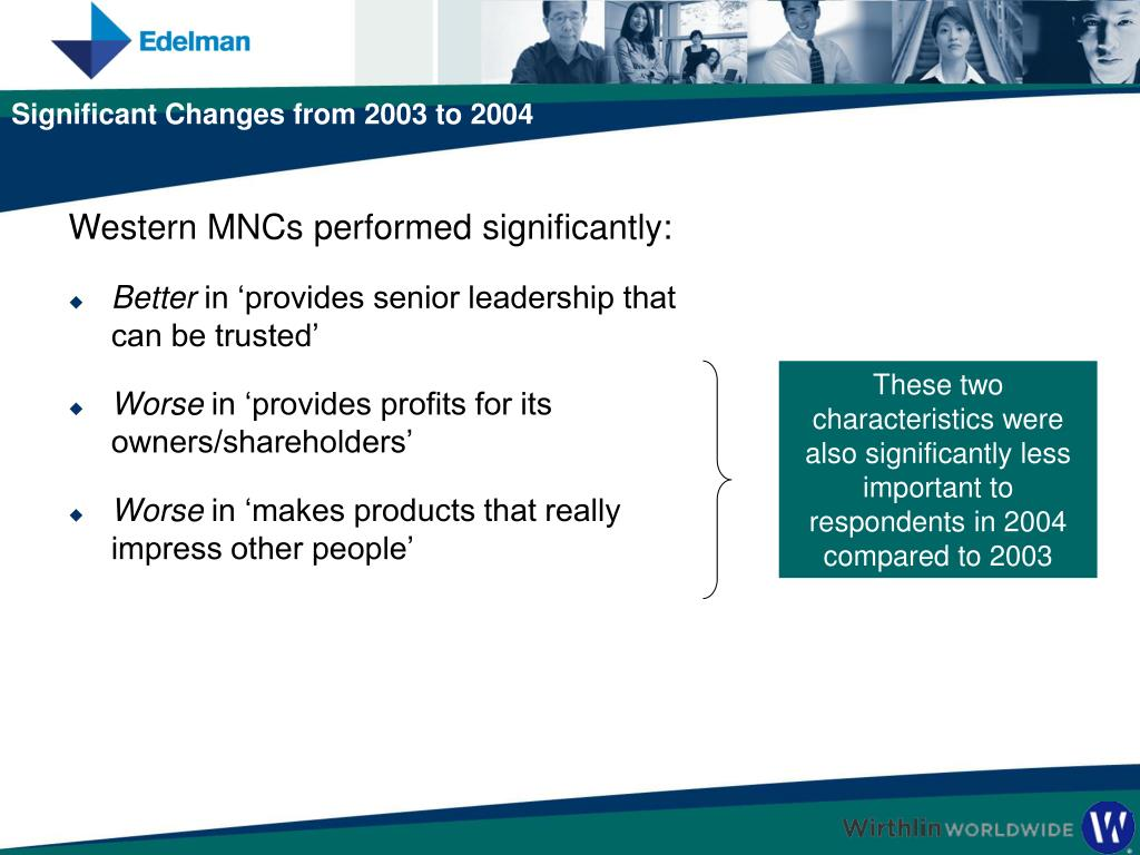 Western MNCs performed significantly: