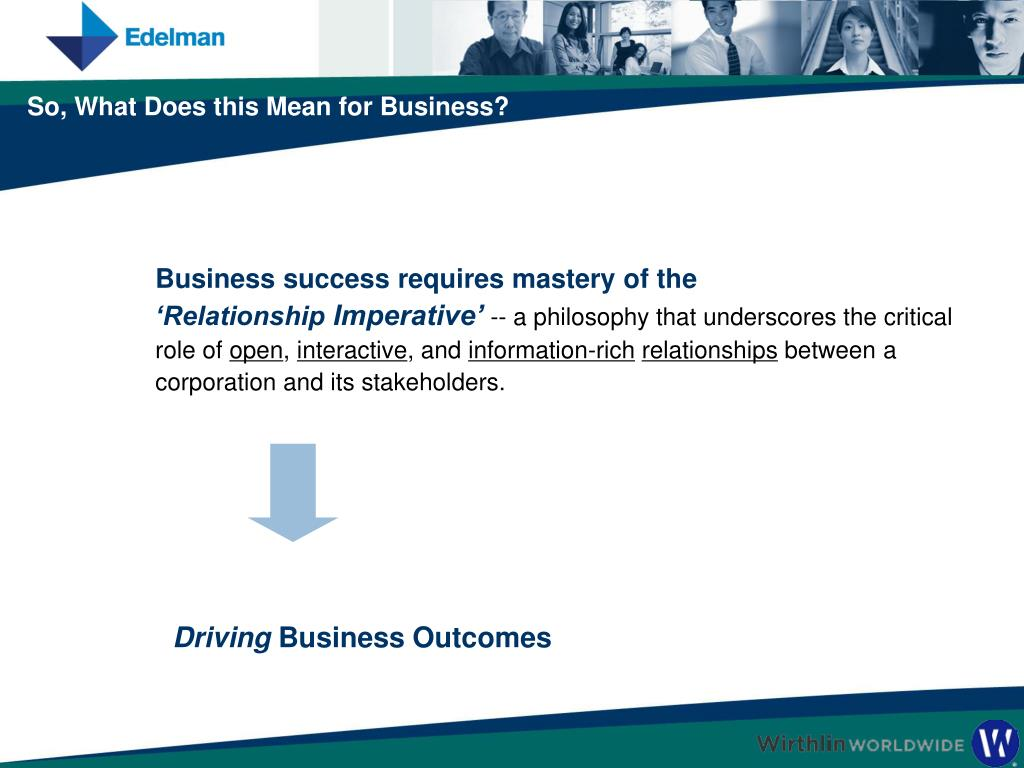 Business success requires mastery of the